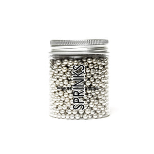 85g Sprinks 4mm Pearls - Metallic Silver