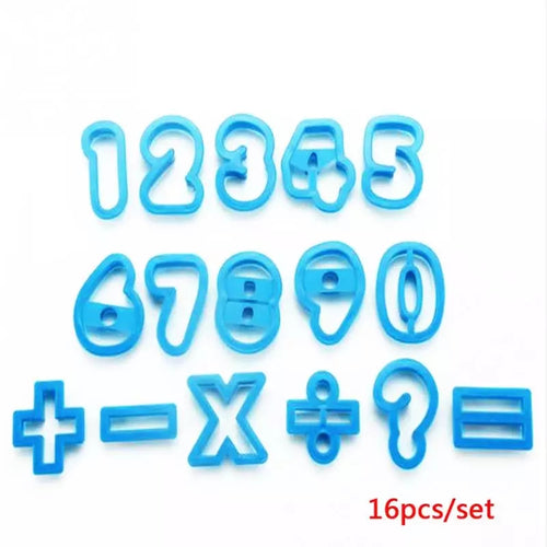 16pc Number / Symbol Cutter Set - Rounded