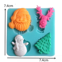 Silicone Mould - Santa, Snowman, Tree, Deer