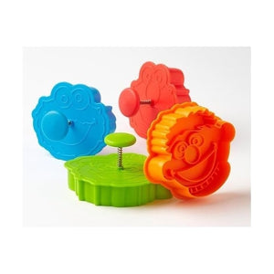 4PC Sesame Street Plunger Cutter Set