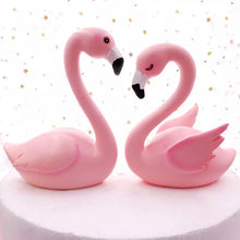 Flamingo Figurine - sitting with open wings