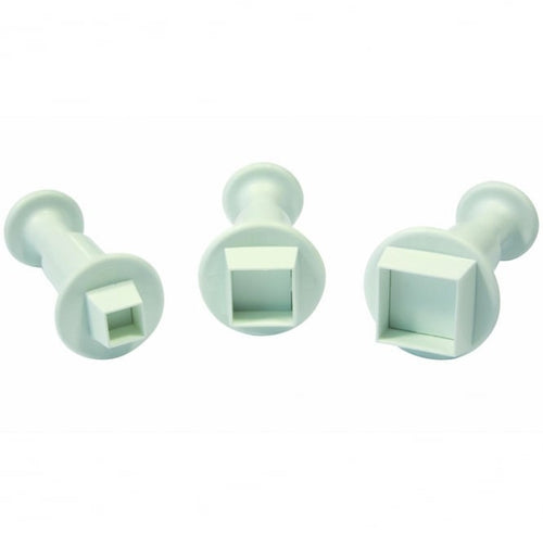 3PC Square Plunger Cutter Set