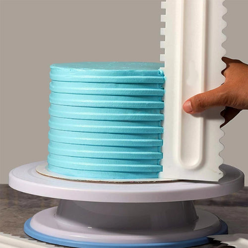 Double Sided Plastic Cake Scraper - Style 3