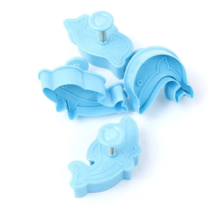 4PC Dolphin Plunger Cutter Set