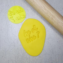 Custom Cookie Cutters Embosser - He or She?