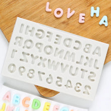 Silicone Mould - Small Alphabet and Numbers
