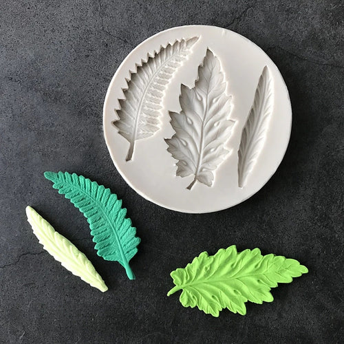 Silicone Mould - 3 x Assorted Leaves