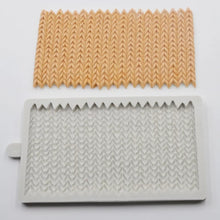 Silicone Mould - Knitted Strips