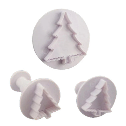 3PC Christmas Tree Plunger Cutter Set