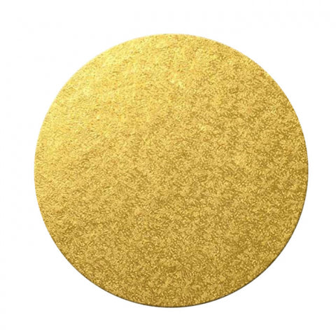 8inch (20cm) Round 5mm Cake Board - Gold