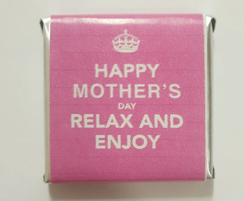 12PK Belgian Wrapped Chocolates - Happy Mothers Day. Relax and Enjoy.