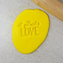 Custom Cookie Cutters Embosser - All you need is love