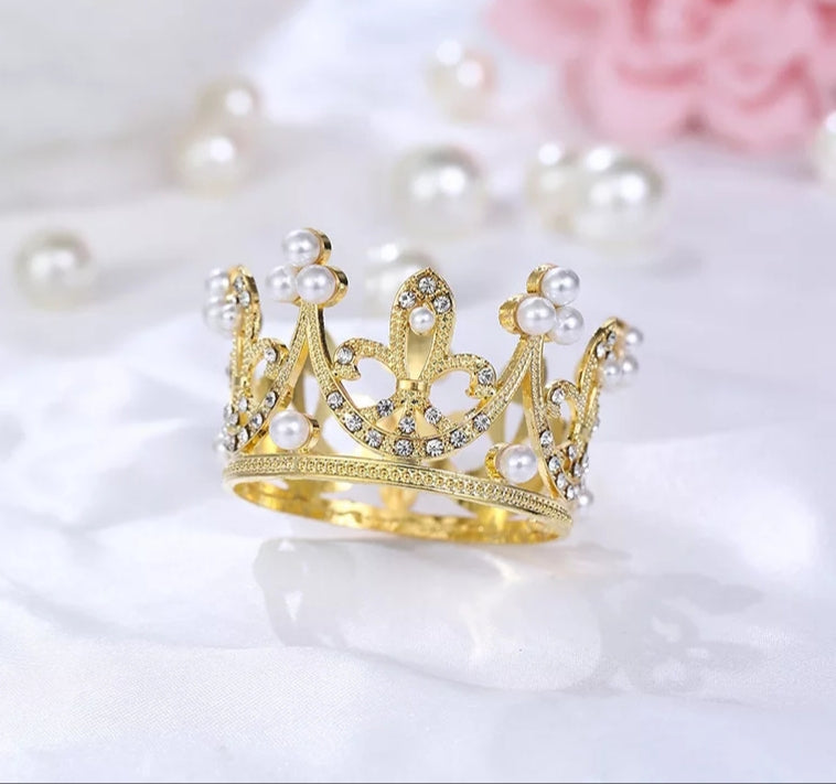 Gold Crown Cake Topper