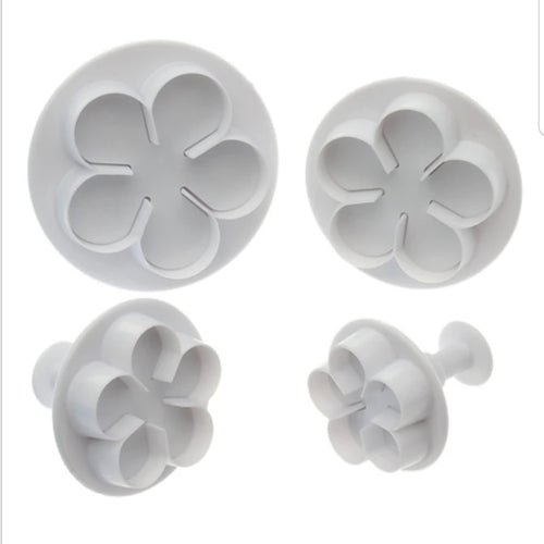 3PC 5 Petal Flower Plunger Cutter Set