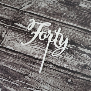 Acrylic Topper - Forty