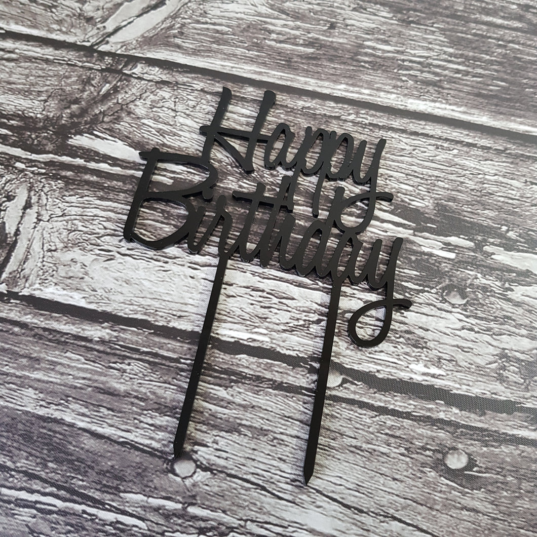 Acrylic Topper - Happy Birthday