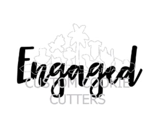 Custom Cookie Cutters Embosser - Engaged