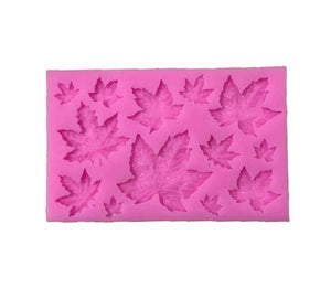 Silicone Mould - Maple Leaf Assorted