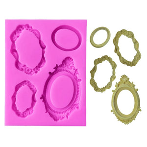Silicone Mould - 4PC Frames Set