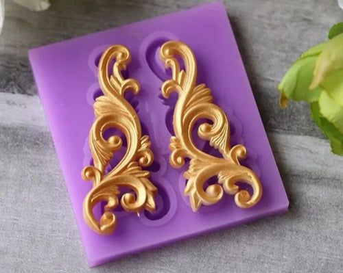 Silicone Mould - 2PC Decorative Swirl