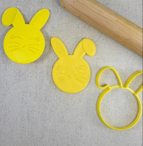 Custom Cookie Cutters 3D Embosser and Cutter Set - Bunny