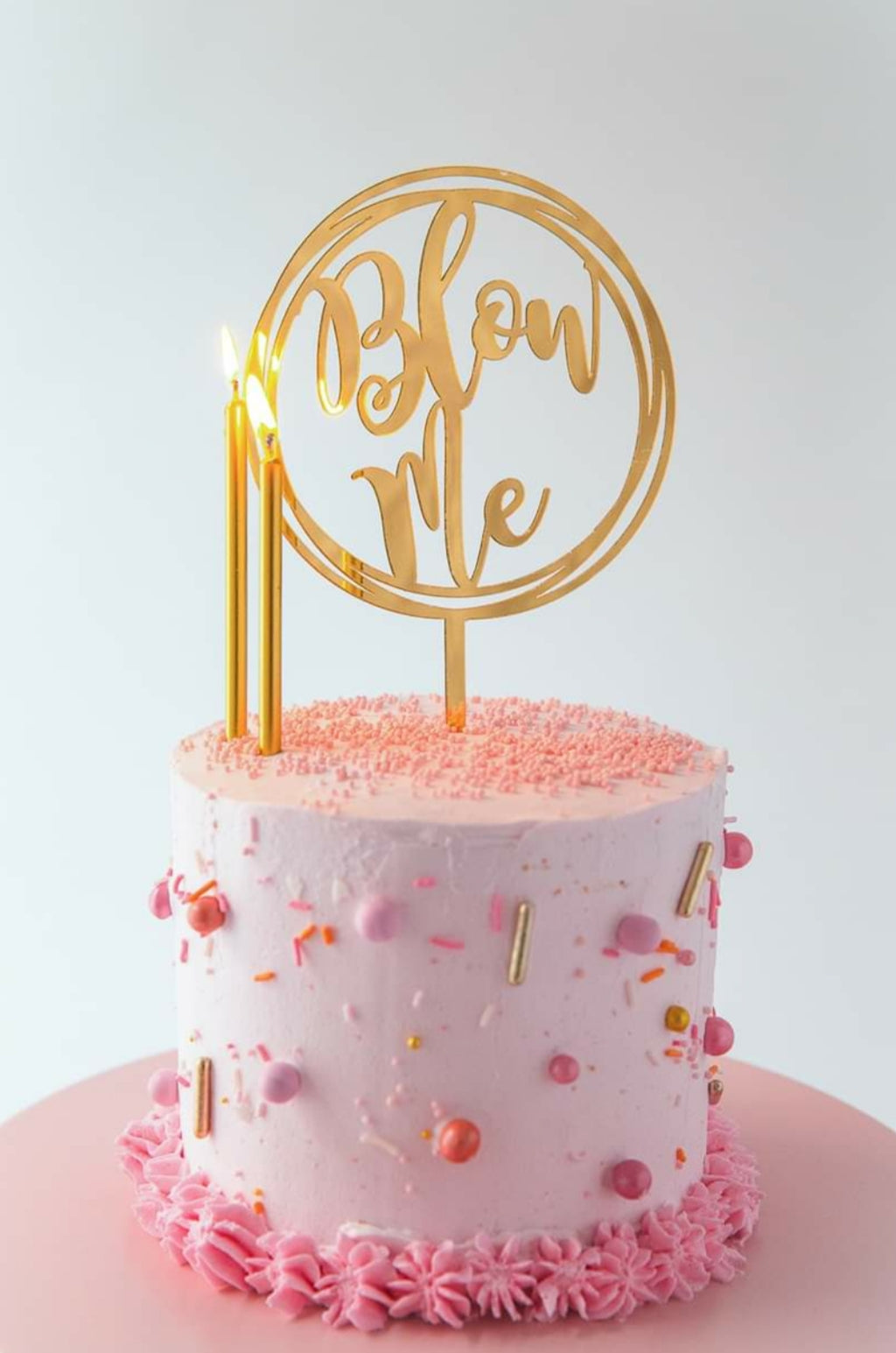 Gold Acrylic Topper - Blow Me
