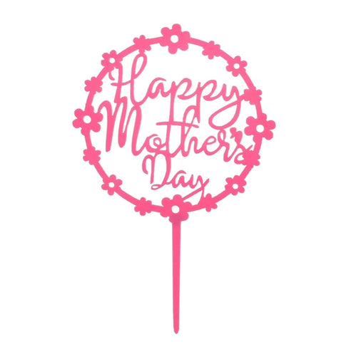 Happy Mothers Day Topper - Pink Floral