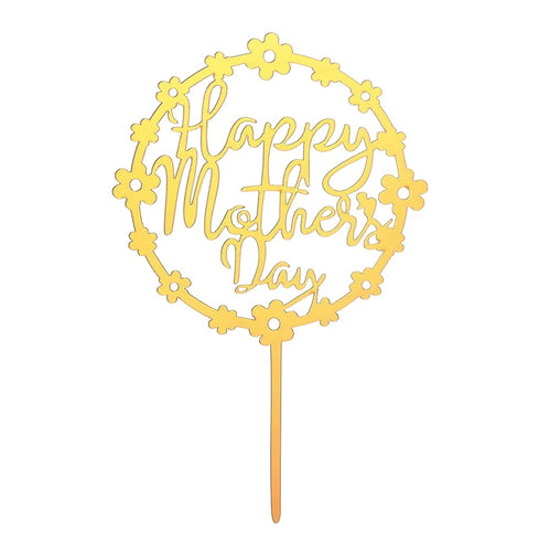 Happy Mothers Day Topper - Gold Floral
