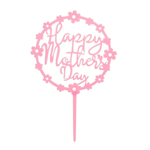 Happy Mothers Day Topper - Light Pink Floral