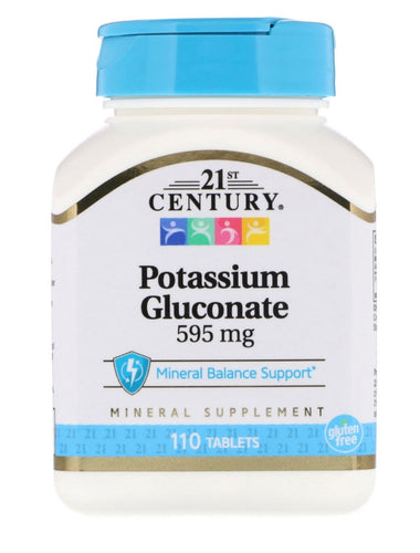110 Tablets - Potassium Gluconate 595mg