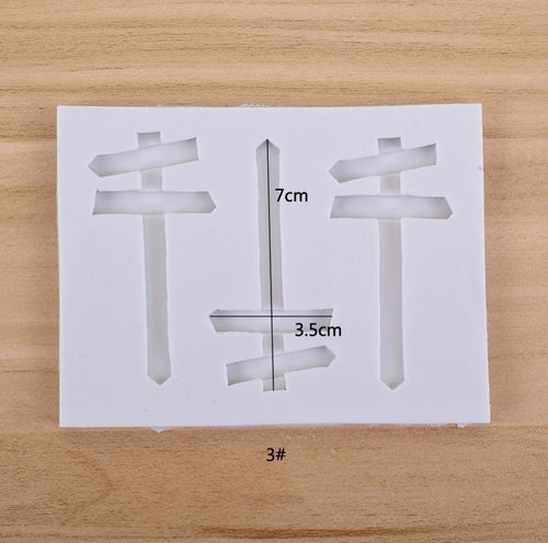 Silicone Mould -  3PC Wooden Sign
