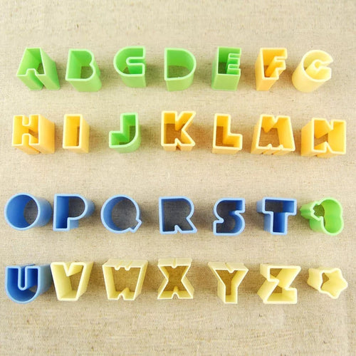 28PC Plastic Alphabet Cutter Set
