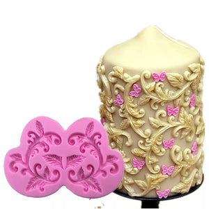 Silicone Mould - Swirl Decorative Border
