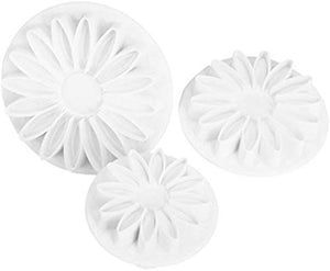 3PC Daisy / Gerbera Flower Plunger Cutter Set