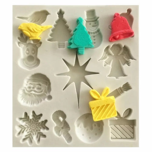 Silicone Mould - 14pc Christmas Collection