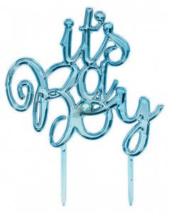 Its a Boy Cake Topper - Blue