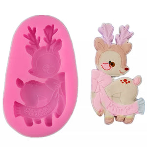 Silicone Mould - Cute Reindeer