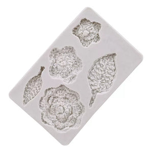 Silicone Mould - Crochet Flowers