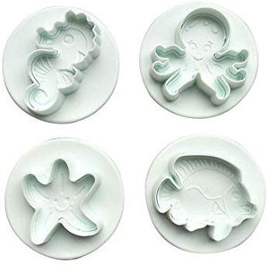 4PC Sea Creatures Plunger Cutter Set
