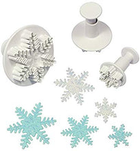 3PC Snowflake Style 1 Plunger Cutter Set