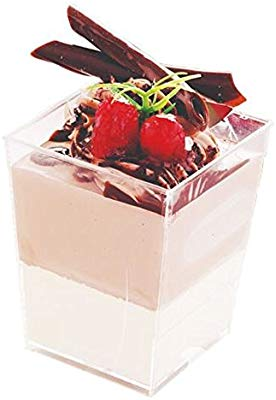 50pk Dessert Cups - Square 120ml