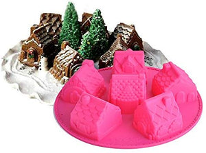6PC Gingerbread Houses Silicone Mould