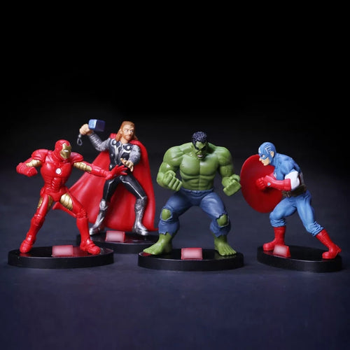 4PC Superhero Figurine Set