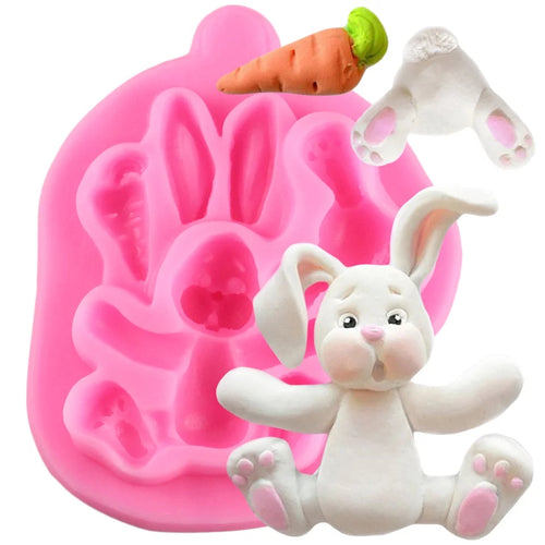 Silicone Mould - 2D Bunny Rabbit