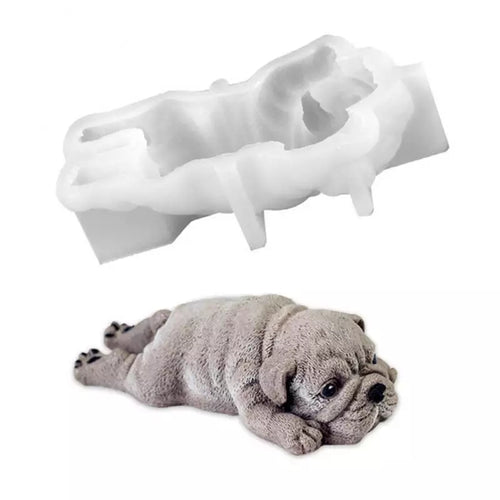 Silicone Mould - 3D Bulldog