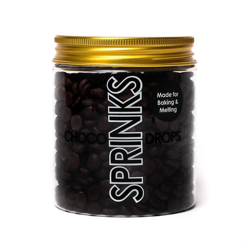 200g Sprinks Choco Drops - Almost Black