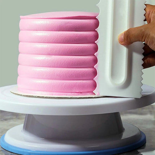 Double Sided Plastic Cake Scraper - Style 2