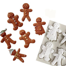 Silicone Mould - Assorted Gingerbread Men