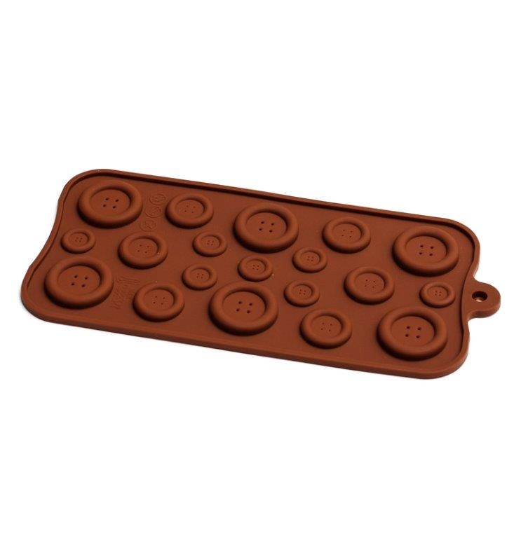 Silicone Chocolate Mould - Buttons
