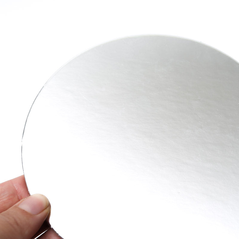 6 inch (15cm) Round 3mm Card Cake Board - Silver